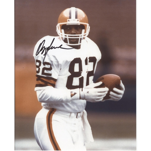 Ozzie Newsome Autographed Cleveland Browns (White Jersey) 8x10 Photo