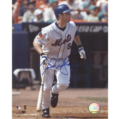 David Wright Autographed New York Mets (HR Swing) 8x10 Photo