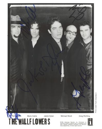Jakob Dylan And The Wallflowers Autographed Band 8x10 Photo