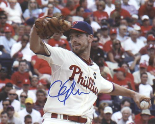 Cliff Lee Autographed Philadelphia Phillies (White Jersey) 8x10 Photo