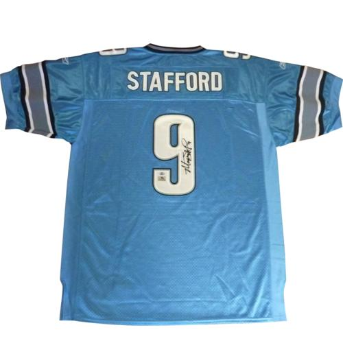 Matthew Stafford Autographed Detroit Lions (Blue #9) Jersey - MS9 Holo