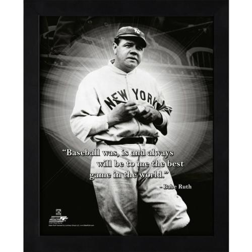"Babe Ruth New York Yankees (Signing Ball) Framed 11x14 ""Pro Quote"" #1"