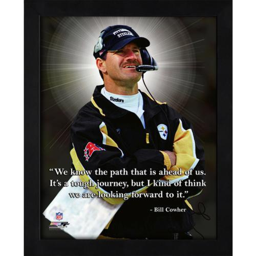"Bill Cowher Pittsburgh Steelers Framed 11x14 ""Pro Quote"""