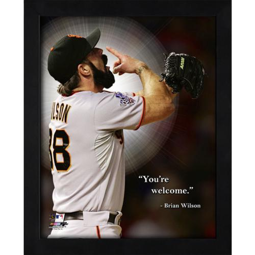 "Brian Wilson San Francisco Giants Framed 11x14 ""Pro Quote"""