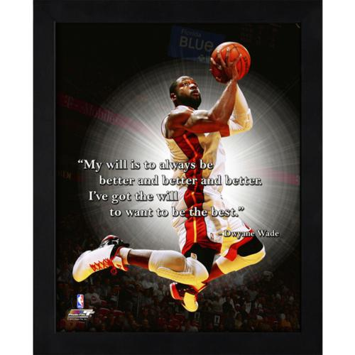 "Dwyane Wade Miami Heat Framed 11x14 ""Pro Quote"""