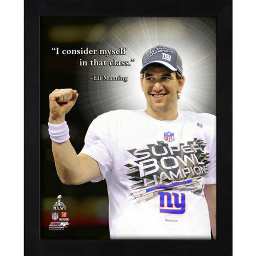 "Eli Manning New York Giants Framed 11x14 ""Pro Quote"""