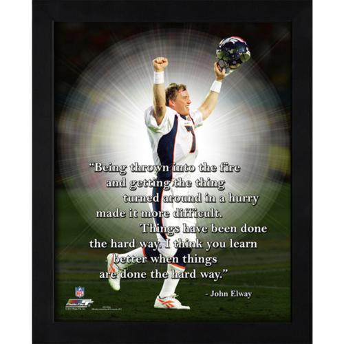 "John Elway Denver Broncos Framed 11x14 ""Pro Quote"""