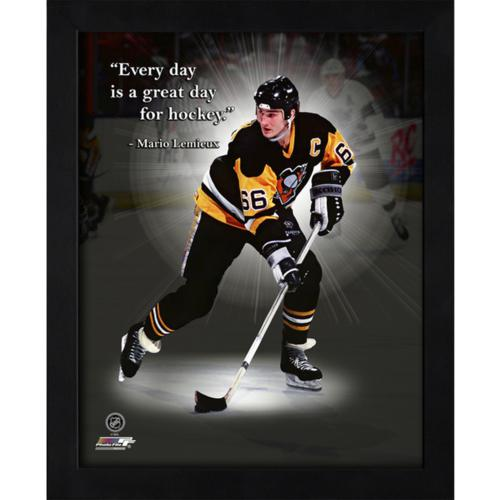 "Mario Lemieux Pittsburgh Penguins Framed 11x14 ""Pro Quote"""