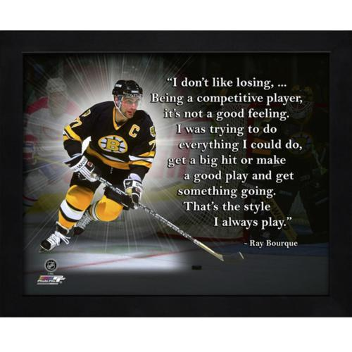 "Ray Bourque Boston Bruins Framed 11x14 ""Pro Quote"""