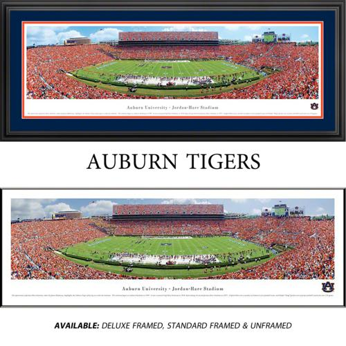 Auburn University Tigers (50 Yard Line) Framed Stadium Panoramic