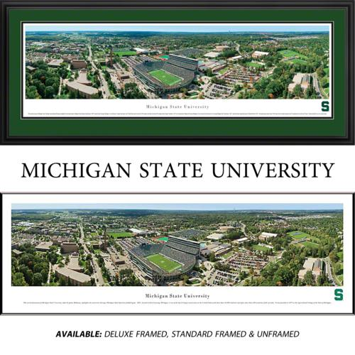 Michigan State University Spartans (Aerial) Framed Stadium Panoramic
