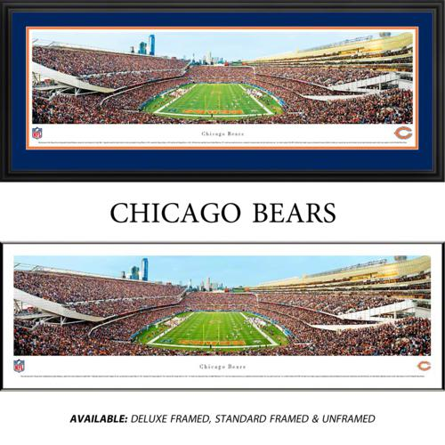 Chicago Bears (End Zone) Framed Stadium Panoramic