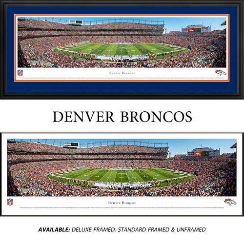 Denver Broncos (50 Yard Line) Framed Stadium Panoramic