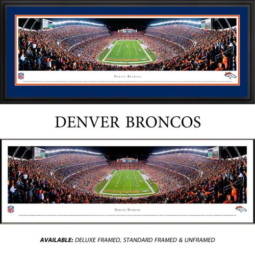 Denver Broncos (End Zone) Framed Stadium Panoramic