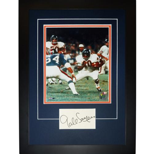 "Gale Sayers Autographed Chicago Bears ""Signature Series"" Frame"