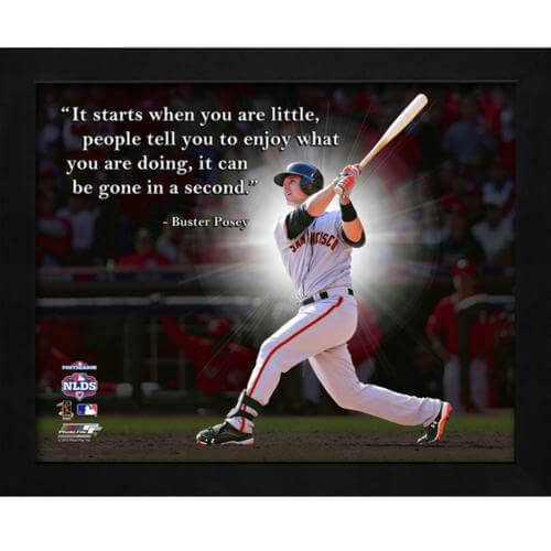 "Buster Posey San Francisco Giants Framed 11x14 ""Pro Quote"""