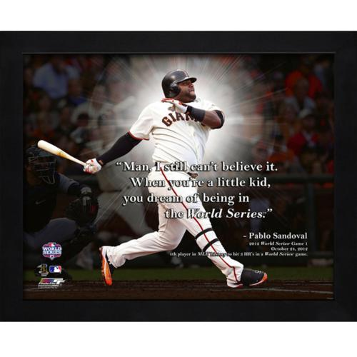 "Pablo Sandoval San Francisco Giants Framed 11x14 ""Pro Quote"""