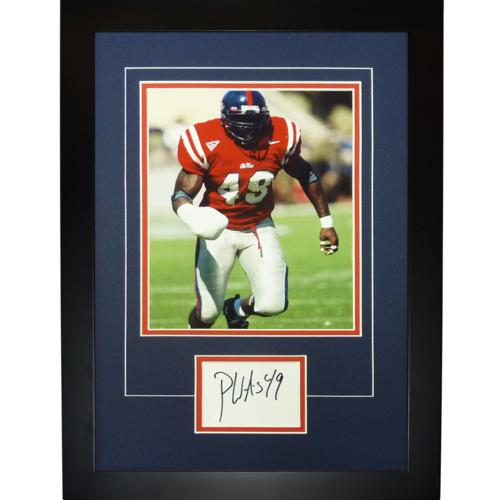 "Patrick Willis Autographed Ole Miss Rebels ""Signature Series"" Frame"