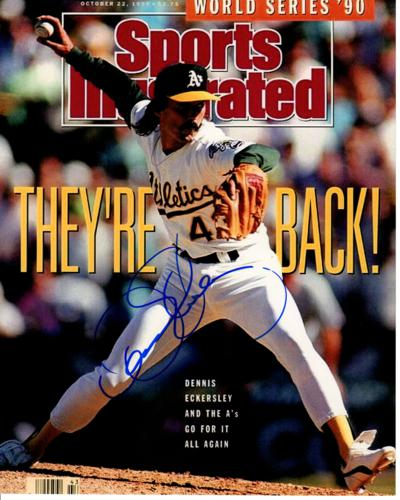 Dennis Eckersley Autographed Oakland A's Athletics (Sports Illustrated) 8x10 Photo