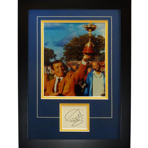 """Tony Jacklin Autographed Ryder Cup (Team Europe) """"Signature Series"""" Frame"""