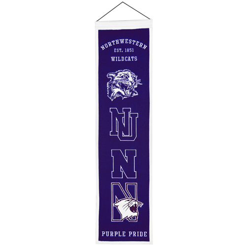 Northwestern Wildcats Logo Evolution Heritage Banner