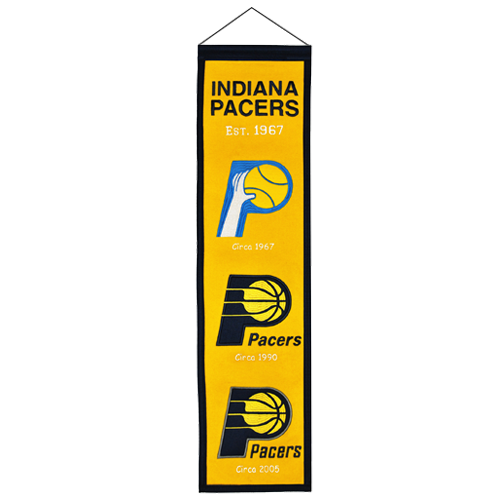 Indiana pacers archives palm beach autographs indiana pacers logo evolution heritage banner voltagebd Gallery