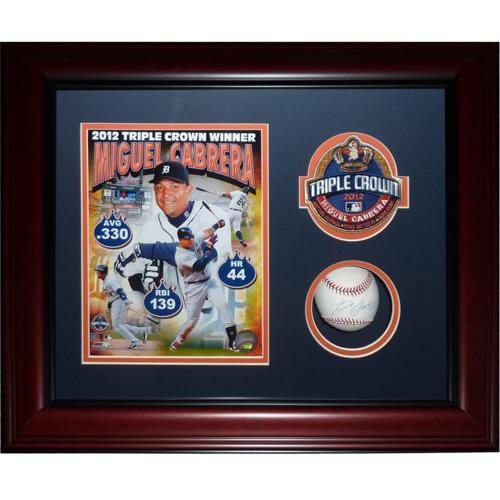 Miguel Cabrera Autographed Detroit Tigers (Triple Crown) Deluxe Framed Baseball Shadowbox