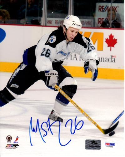 Martin St. Louis Autographed Tampa Bay Lightning 8x10 Photo - PSA