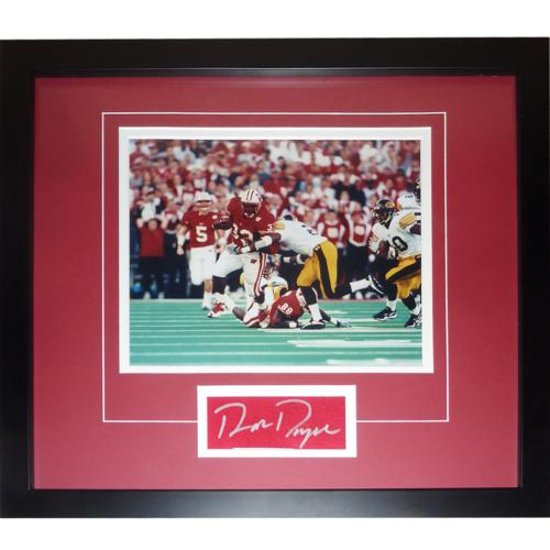 "Ron Dayne Autographed Wisconsin Badgers (Record Run) ""Signature Series"" Frame"