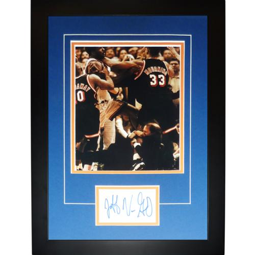 "Jeff Van Gundy Autographed New York Knicks (Fighting) ""Signature Series"" Frame"