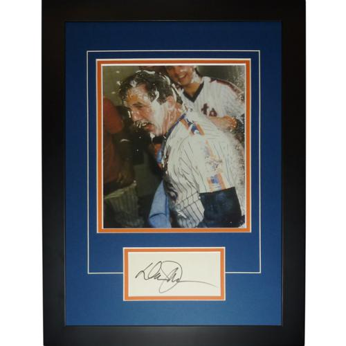 "Davey Johnson Autographed New York Mets (World Series Celebration) ""Signature Series"" Frame"