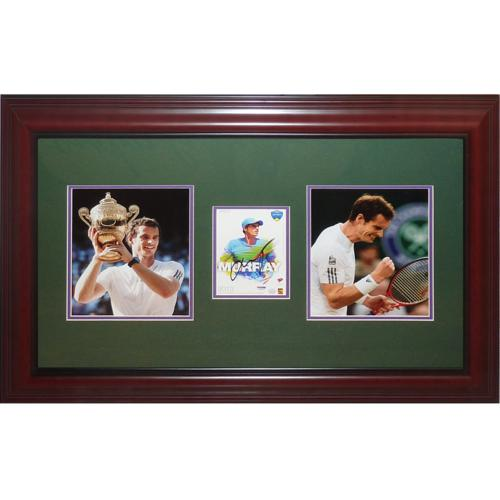 Andy Murray Autographed Tennis (Wimbledon Champion) Deluxe Framed Piece - JSA