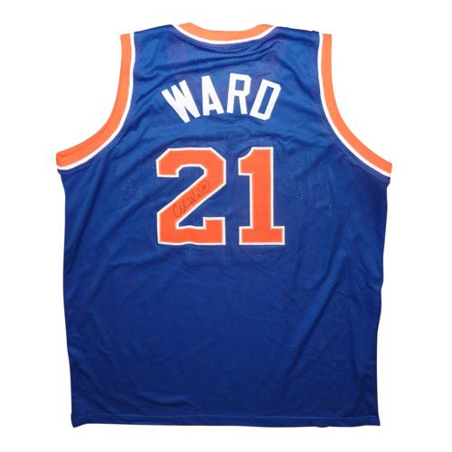 Charlie Ward Autographed New York Knicks (Blue #21) Custom Jersey