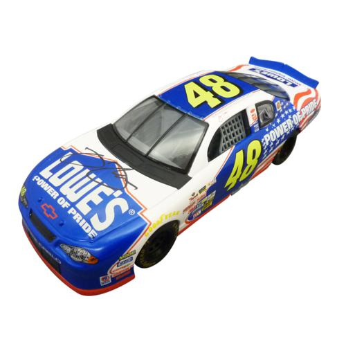 Jimmie Johnson Autographed Lowes #48 (2002 Power of Pride Racing Champions) 1/24 Diecast Car