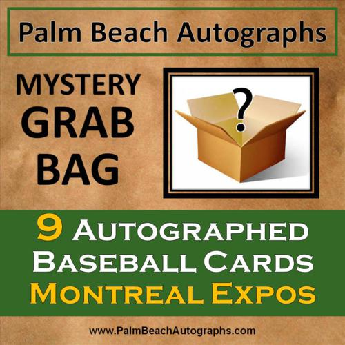 MYSTERY GRAB BAG - 9 Autographed Baseball Cards - Montreal Expos