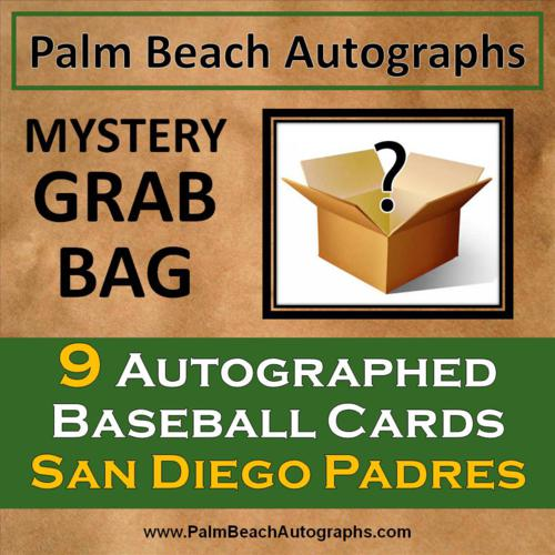 MYSTERY GRAB BAG - 9 Autographed Baseball Cards - San Diego Padres