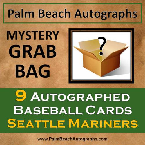 MYSTERY GRAB BAG - 9 Autographed Baseball Cards - Seattle Mariners