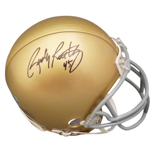 Rudy Ruettiger Autographed Notre Dame Fighting Irish Mini Helmet