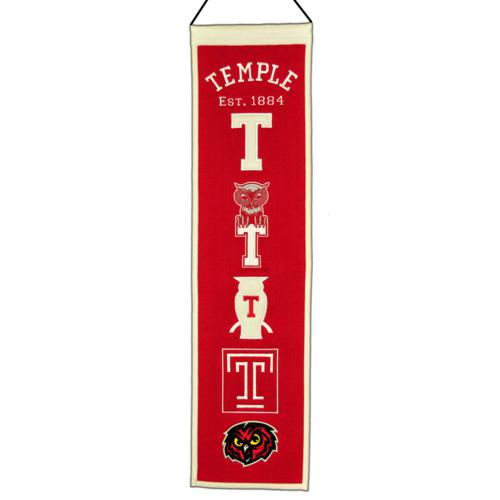 Temple Owls Logo Evolution Heritage Banner