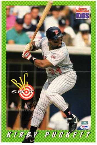 Kirby Puckett Autographed Minnesota Twins (Sports Illustated) 11x16 Poster - PSADNA