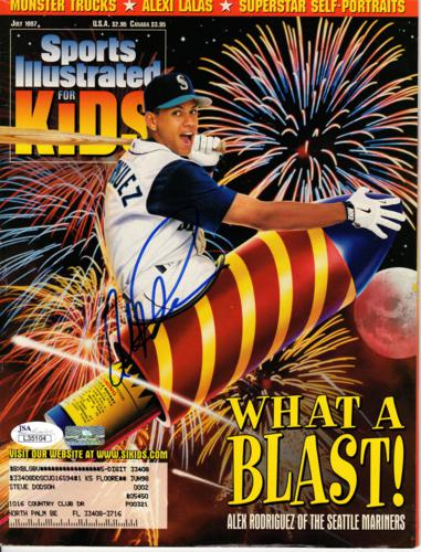 Alex Rodriguez Autographed Seattle Mariners (July 1997) Sports Illustrated For Kids Magazine - JSA