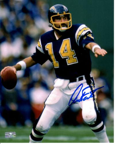 Dan Fouts Autographed San Diego Chargers (White Pants) 8×10 Photo