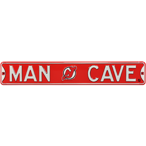Man Caves New Jersey : New jersey devils quot man cave authentic street sign