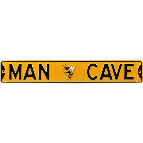 Uga Man Cave Signs : Georgia tech yellow jackets quot man cave authentic street sign
