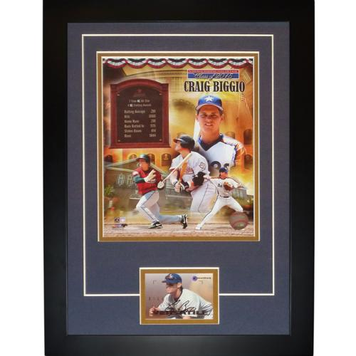 "Craig Biggio Autographed Houston Astros (Hall of Fame) ""Signature Series"" Card Frame"