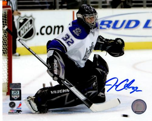 Jonathan Quick Autographed Los Angeles Kings (Horiz Action) 8x10 Photo - Quick Holo