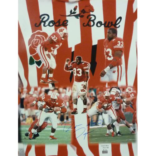 Ron Dayne Autographed Wisconsin Badgers (Rose Bowl MVP LE/500) 16×20 Photo