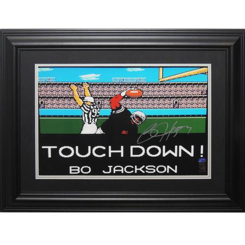 "Bo Jackson Autographed Oakland Raiders ""Tecmo Bowl"" Deluxe Framed 16x20 Photo - JSA"