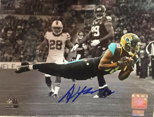 Allen Hurns Autographed Jacksonville Jaguars (Spotlight Dive) 8x10 Photo