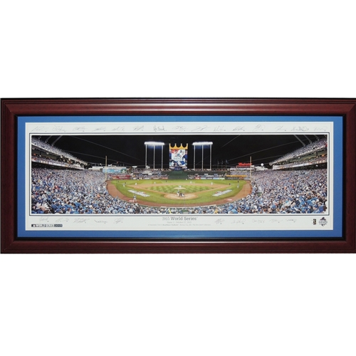 Kansas City Royals (2015 World Series with Facimile Signatures) Deluxe Framed Panoramic Photo